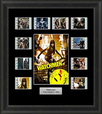 Watchmen Mounted Framed 35Mm Film Cell Memorabilia Dr Manhattan