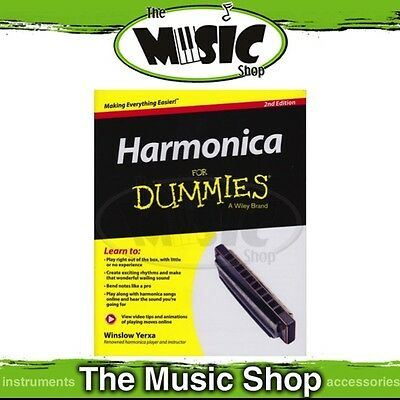 New Harmonica for Dummies Music Tuition Book - 2nd Edition