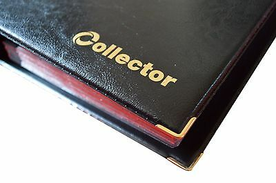 Black Coin Album 221 Coins Mix Sizes Book Folder Big Capacity for Extra Pages