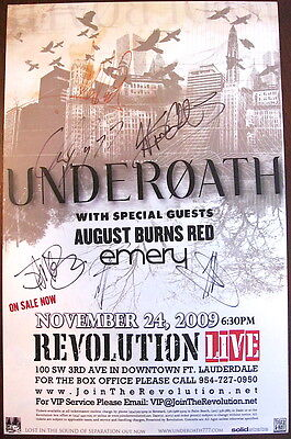 "UNDEROATH: 11"" X 17"" Signed Concert Poster, August Burns Red -MINT"