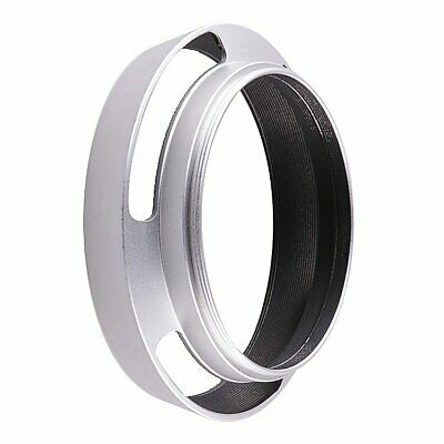 49mm metal Tilted Vented Screw-in Lens Hood for All 49mm Filter Thread silver