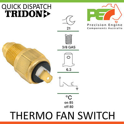 Genuine * TRIDON * Universal Thermo Fan Switch - 85C ON   80C OFF, 3/8 GAS