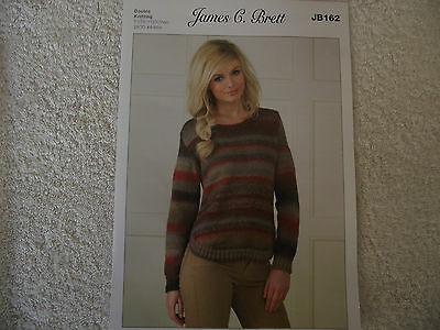 James C Brett - Ladies Sweater Double Knitting Pattern - JB162