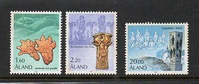 Aland 1986 Archaeology SG21-23 unmounted mint set stamps