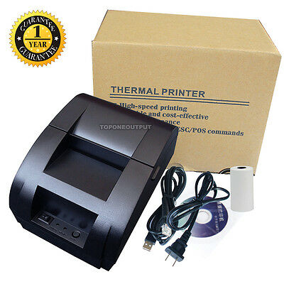 USB Mini 58mm POS/ESC Thermal Dot Receipt Printer Set 384 Line w/ Roll Paper 12V