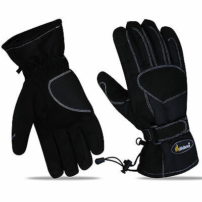 New Mens Motorcycle Motorbike Gloves Textile Waterproof Thermal Thinsulate Warm