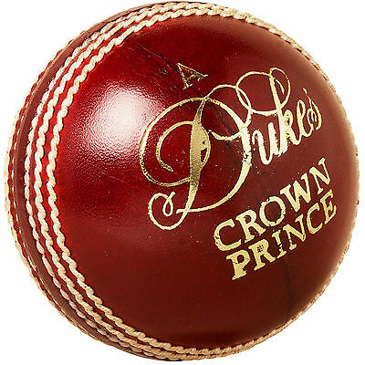 "Dukes Crown Prince ""A"" Dark Red Cricket Ball Size:Mens (156g)"