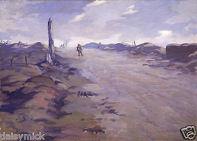 The Crest of Vimy Ridge Gyrth Russell World War 1 11x8 Inch Print Soldier Army