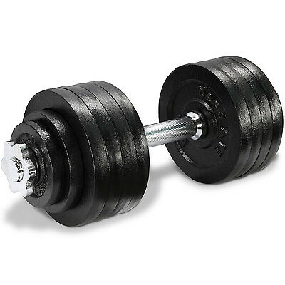 52.5 LBS Cast Iron Adjustable Dumbbell Fitness Gym Body Hand Plate - ²DL2ZD