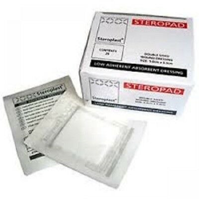 25 x Low Adherent Dressing Pad Double Sided - 5cm x 5cm- Steropad - NHS Quality