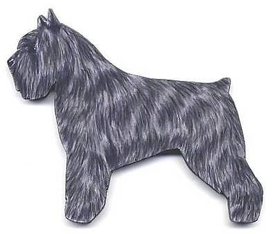 BOUVIER DES FLANDRES Wooden Memo MAGNET - Dark Gray - *Hand Crafted* !