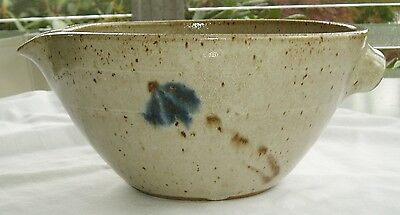 Jugtown Ware Handmade Pottery Cobalt Batter Bowl Owen Seagrove North Carolina