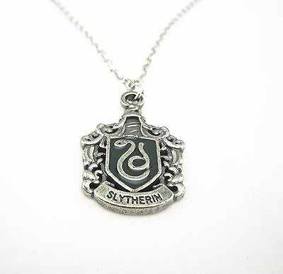 Harry Potter Slytherin Crest Green snake Necklace Jewerly Pandent Gifts SQ17