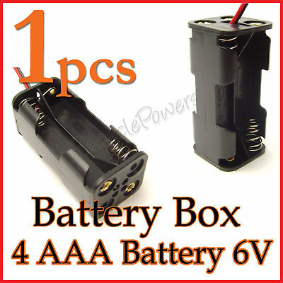 1 x Battery storage Box Holder Case 4 x AAA 3A (6V) with 6'' Leads