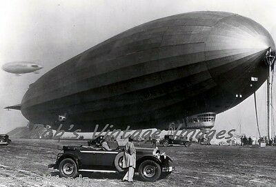 Vintage 1929 Packard car photo Graf Zeppelin Airship Automobile Art Deco Era