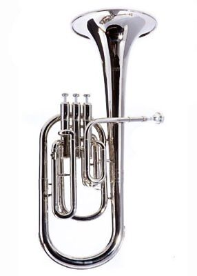 Brand New Fever Deluxe Alto Horn Silver With Case and Mouthpiece 2411-1-N
