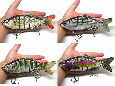 "8"" / 20cm Multi-jointed Pike Muskie Fishing Bait Swimbait Lure Life-like NEW"