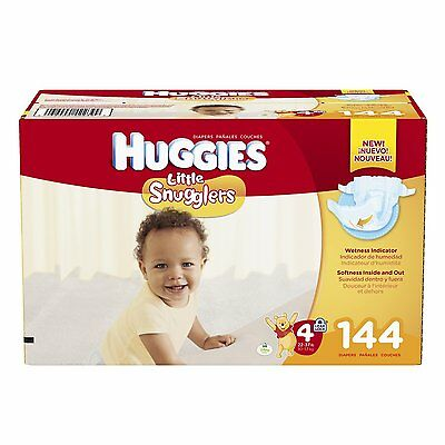 HUGGIES Little Snugglers Diapers, Size 4, 144 Count