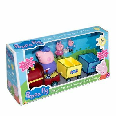 New Peppa Pig On Grandpa Pig's Train With Sound & Figures