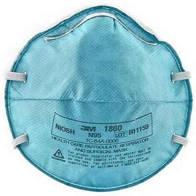 3M 1860 N95 Particulate Respirator Surgical Face Mask Regular Adult 20/Bx