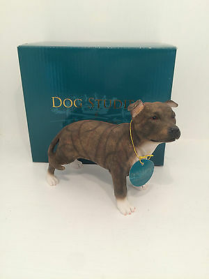 Dog Studies by Leonardo Brown Staffordshire Bull Terrier Figurine *BRAND NEW*