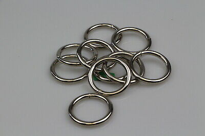 O Ring 10 x welded steel 32mm x 5mm horse rugs dog collars leads