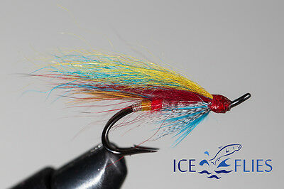 Salmon Fly,Silver Doctor , Double Hook. (3-pack) Pick a size. Fly Fishing Fly