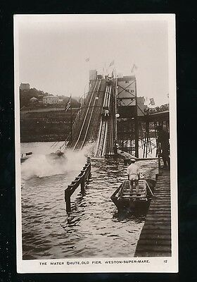 Somerset WESTON-SUPER-MARE Old Pier & Water Chute 1909 RP PPC