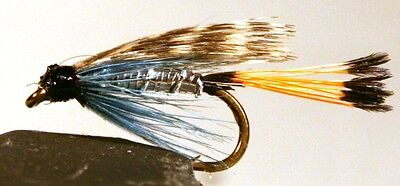 ICE FLIES. Wet flies. Teal blue and silver. Pick a size (4-pack)