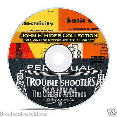 Perpetual Troubleshooters Manual, John Rider's Vintage Radio Schematics DVD B89