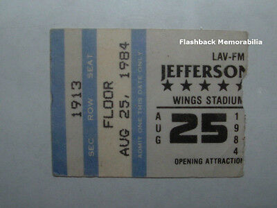 JEFFERSON STARSHIP 1984 Concert Ticket Stub KALAMAZOO WINGS STADIUM Very Rare