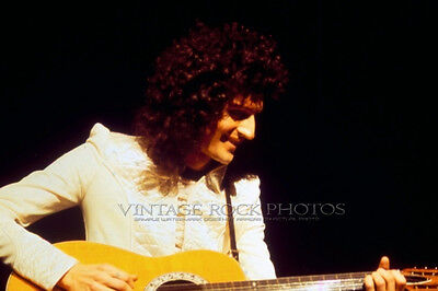 Brian May Queen Photo 8x12 or 8x10 inch 1977 Live Concert from 35 mm Negative 7