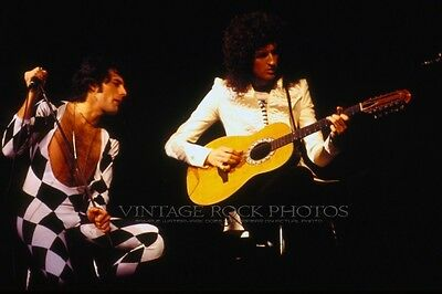 Queen Photo Mercury May 8x12 or 8x10 inch '77 Live Concert from 35mm Negative 8