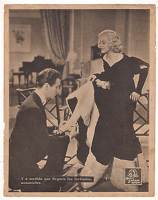 F10457 PERSONAL PROPERTY JEAN HARLOW ROBERT TAYLOR MGM Lobby Card Spain A