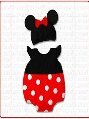 Wholesale Job Of New 10 Minnie Mouse Baby Romper Suits Inc Hats Only £4 Each