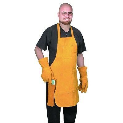 3 Piece Welder Leather Kit Apron Gloves Rod Holder Combo Kit Brand New Welders
