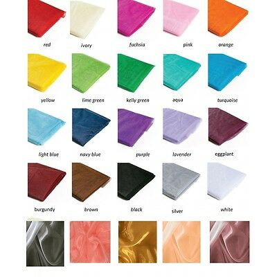 """10 Yards Organza Fabric 60"""" Wide High Quality Sheer Draping Craft Party Wedding"""
