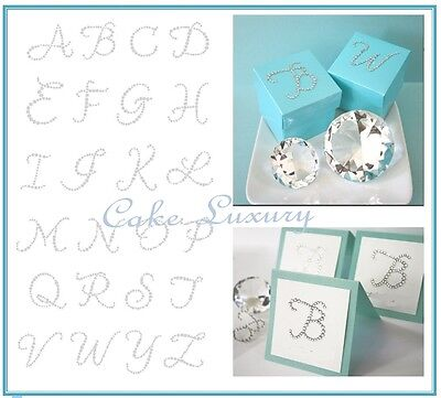 Bling Rhinestone 5cm Letter Initial Stickers - 1x Self Adhesive Letter Per Sheet
