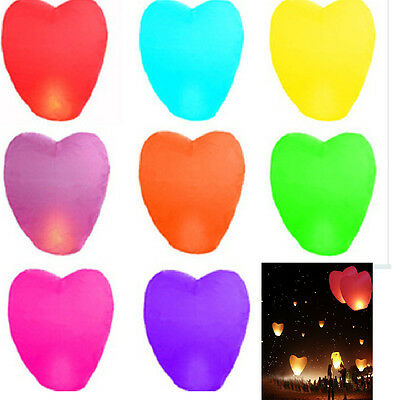 5/10/20Pcs Paper Chinese Kongming Lanterns Sky Fire Fly Candle Lamp Wish Party