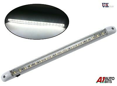 1 X 18 LED 12V LIGHT STRIP BAR CARAVAN MOTORHOME BOAT TUBED 400MM on/off switch