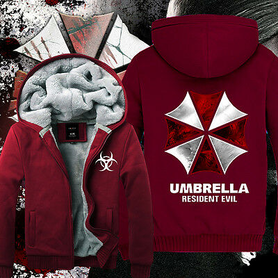 Winter Anime Resident Evil Clothing Thicken Jacket Sweater Hoodie S-XXXL