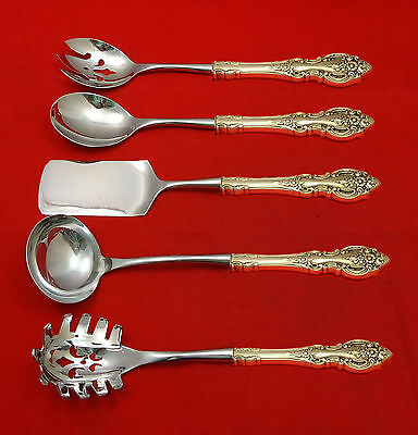 Grand Victorian by Wallace Sterling Silver Hostess Set 5pc HHWS  Custom Made