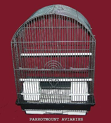 ARCH TOP BIRD CAGE FOR  PARAKEETS, FINCHES, CANARIES & SIMILAR BIRDS 16x12x22