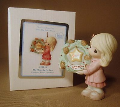 Precious Moments 2010 My Hope Is In You Christmas Ornament NIB
