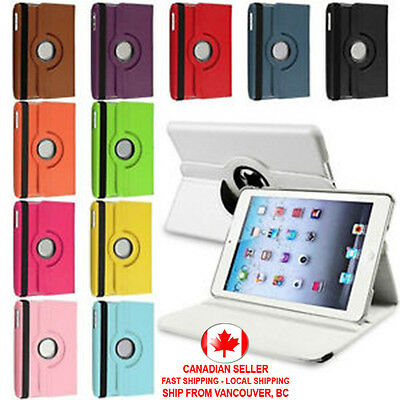 360 Rotating PU Leather Case Cover Stand for Apple iPad 2 3 4 Mini Air 2