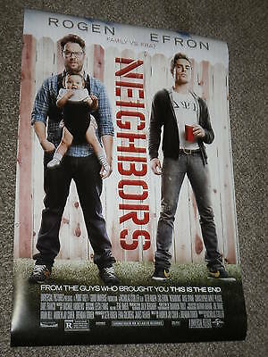 "NEIGHBORS ""B"" 27x40 ORIGINAL D/S MOVIE POSTER - Rogen - Efron"