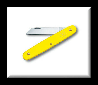 "NEW VICTORINOX SWISS ARMY 4"" FLORAL KNIFE - YELLOW 3.9050.70"
