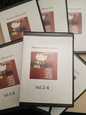 Woodstock1994  26 DVD's ! Full Concert Saugerties NY LIVE rare awesome video WOW