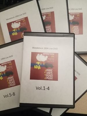Woodstock1994  26 DVD's! Full Concert- Winston Farm, Saugerties NY LIVE rare!!