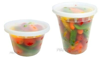 16 32 oz. DELItainer Soup Deli Food Storage Freezer Container 12/Each -BPA Free!